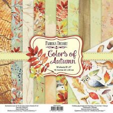 "8"" x 8"" scrapbooking paperpad cardstock Colors of Autumn 10 designs x 2 sheets"