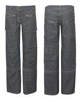 Womens Ladies Cargo Jeans Combat Detachable Denim Trouser Pants
