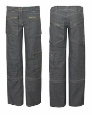 Womens Ladies Cargo Jeans Combat Detachable Denim Trouser Pants