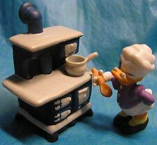 RARE Disney's Franklin Mint Grandma Duck With Stove porcelain Figurine