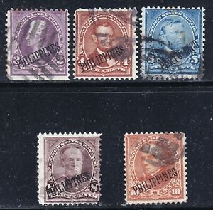US Possessions Philippines Stamp  USED STAMPS COLLECTION LOT (10 crease)