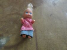 "Mattel Barbie Happy Family Doll Baby Krissy 3"" Blond Hair w Ponytail 1973"