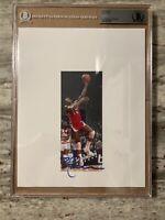 Leaf Basketball 8x10 Photo Bob Lanier Auto Beckett BGS Slabbed; Detroit Pistons