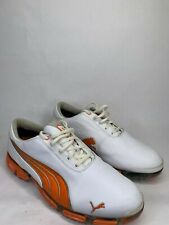 Puma Super Cell Fusion Ice Golf Shoes Spikes White Orange Mens 10