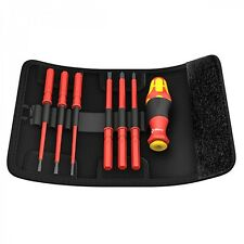 Wera Kraftform Kompakt VDE 7 Universal 1 Interchangeable Blade Screwdriver Set