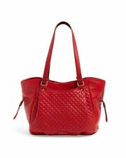 NWT Vera Bradley Carryall Leather quilted Red Glenna Satchel Bag R$240