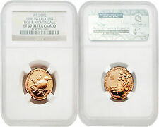 Israel 1996 Wildlife Figs & Nightingale 5 New Sheqel Gold NGC PF69 ULTRA CAMEO