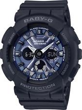 Blue Metallic Watch Ba130-1A2 Casio Women's Baby-G Black