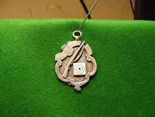 solid silver watch fob medal 14g
