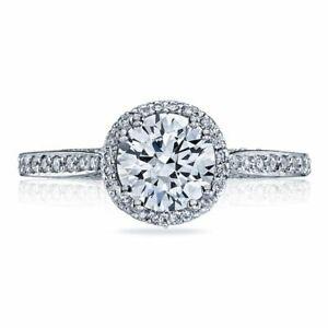 New Tacori Diamond Engagement Ring - 18 Karat White Gold Size 6.5 Semi Mount
