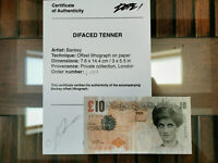 Banksy Di-faced Tenner with provenance 100% authentic COA Nicolas Alyes