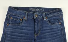 AMERICAN EAGLE Straight Stretch Womens Size 10 Short Dark Wash Cotton Jeans
