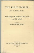 The Blind harper: The Songs of Roderick Morison,  William matheson (ed.)