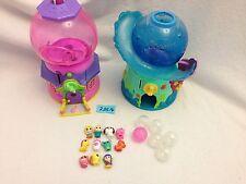 Squinkies Gumball Machine Playset & Little Mermaid Gumball Playset 11 Squinkies
