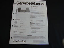 ORIGINALI service manual TECHNICS st-hd505md