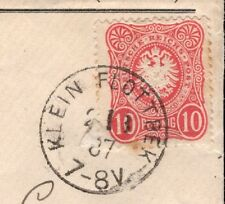 Germany Dr. G. Bonne 1887 Reichspost Small Eagle Klein Flottbeck Cover  9r