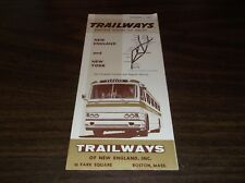 SEPTEMBER 1963 TRAILWAYS OF NEW ENGLAND BUS SCHEDULE