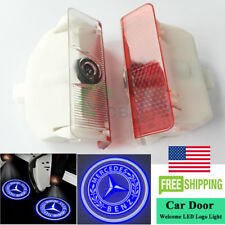 2x No Drill LED Door Courtesy Logo Light Mercedes-Benz GLK 250 300 350 2009-2015