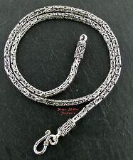 Königskette das Original 3mm 42cm Massiv Silber 925 Balikette Balichain Halskett