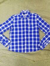 Hollister women's shirt blue plaid size XS 36 excellent condition