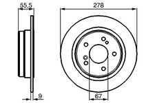 Bendix Rear Solid Brake Disc - 278mm Mercedes-Benz SLK(R170) 1996-2011
