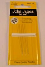 Beadsmith Taille 13 anglais Beading Needles 49 mm Pack de 4 R79//1