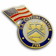 United States Customs Service with U.S. Flag  Lapel Pin Brand New