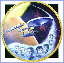 "1986 USS ENTERPRISE-Star Trek 12"" Gold Border Plate- FREE S&H- Mailed from USA"