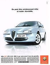 PUBLICITE ADVERTISING  2000   ALFA ROMEO   ALFA 147