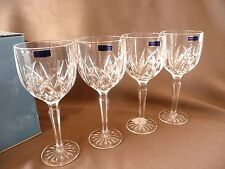 Waterford Crystal Marquis-Set/4 Glasses-Brookside-Large Wine-Iced Beverage-NIB