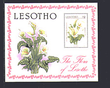Lesotho 1987 Fauna/Flower/Plants/Pig Lily m/s (n14061)