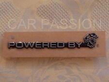 écrit écusson POWERED BY ABARTH FIAT 500 tableau de bord argent logo fraîche
