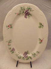 "Pfaltzgraff Grapevine pattern - Oval Serving platter - 14 3/8"" wide - EUC - USA"