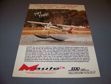 VINTAGE..EDO FLOATS (MAULE MX-7-180B).. COLOR SALES AD...RARE! (466G)