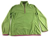 Orvis Mens Green Long Sleeve 1/4 Zip Jacket Size Large