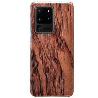 Echtholz Aramid Kern Hardcase Stoßfest Backcover f Samsung Galaxy S20 Ultra Plus