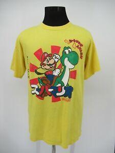 M9643 VTG Mario Yoshi Character Graphic T-Shirt Size L