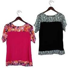 Chiffon Summer/Beach Short Sleeve Tops & Blouses for Women
