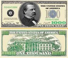 $1000 Poker Play Money Dollar Bill ~ Cleveland ~ Fake Funny Money Novelty Note