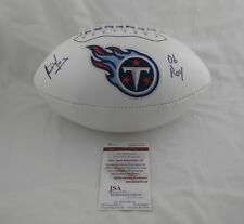 VINCE YOUNG signed TENNESSEE TITANS Full Size Logo Football w/06 ROY - JSA