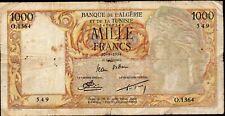 Banque de l'ALGERIE et de la TUNISIE;1000 Frs;30.4.1954(date peu courante);Pick1
