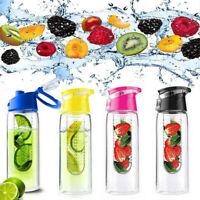 800ml Fruit Infusion Water Bottle Fruit Infuser Aqua Hydration Sports Gym Bottle
