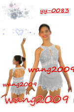 Ice Figure Skating Dress Gymnastics custome Dress Dance Competition gary