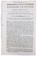 Château de Coulanges la Vineuse en 1791 Vincelles Yonne Colmar Douai Révolution
