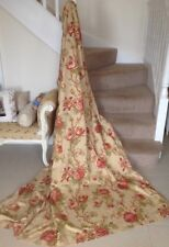 DOOR CURTAIN! JOHN LEWIS, WIDE, LONG, FULLY LINED, PRETTY, RED ROSES, FARMHOUSE