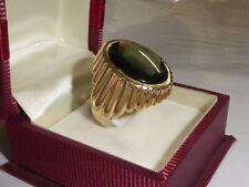Turmalin XL Ring 585 Goldring grüner Stein 14,4 g Gelbgold Gold 57 -18 mm N1673