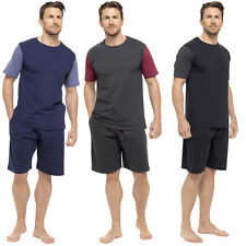 Mens Pyjamas Set Short Sleeve Top T Shirt Pants Summer Pjs Lounge Wear Shorts