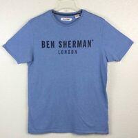Ben Sherman Men's M Medium Blue London Classic Fit Short Sleeve T Shirt
