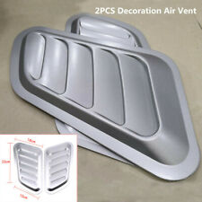 Universal Car Air Flow Intake Scoop Turbo Bonnet Vent Cover Hood Fender Silver