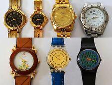 Sammlung 7 Quarz Armbanduhren Damenuhren Herrenuhren Swatch Louis Jourdan King